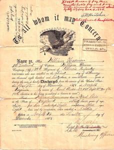 William Harrison Civil War Discharge